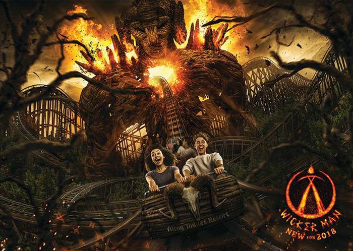 The Wicker Man roller coaster