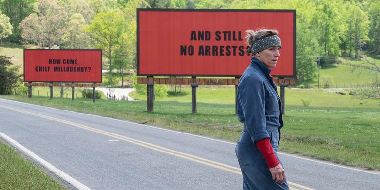 three billboards backlash