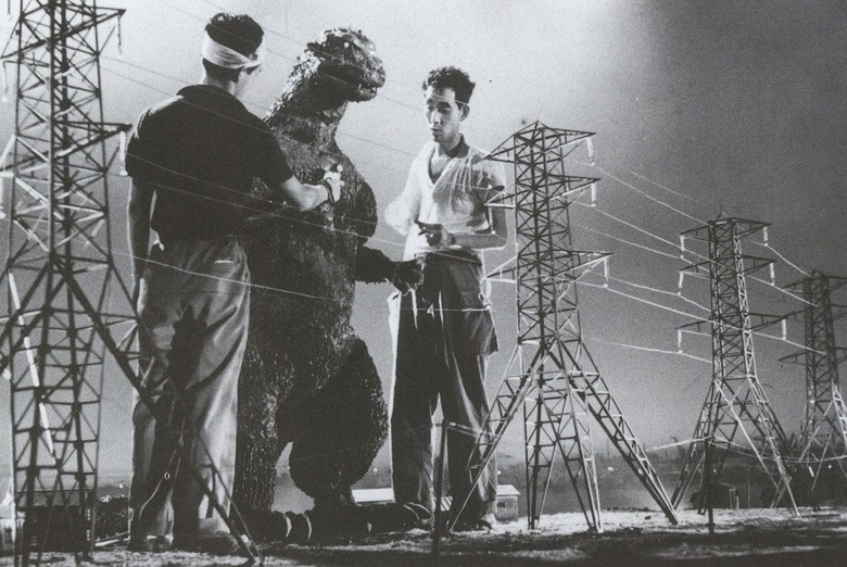 On the set of Godzilla (Gojira) in 1954