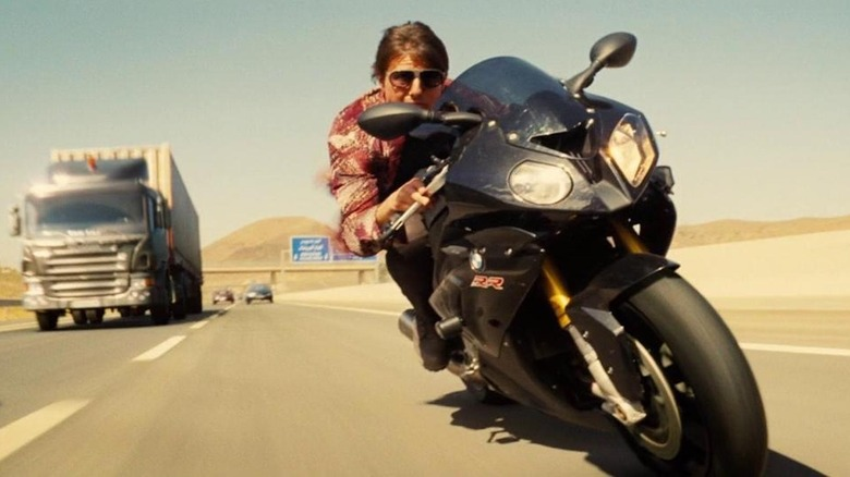 Tom Cruise Performed 13,000 Motorbike Jumps To Prep For A Mission: Impossible 7 Stunt