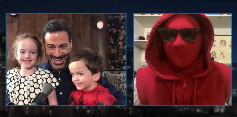 Tom Holland Surprises Jimmy Kimmel's Son