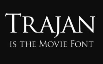 Trajan - The Movie Font