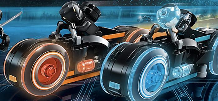 TRON Legacy Lightcycle LEGO Set