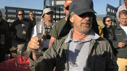 Spielberg on the set of Indiana Jones 4