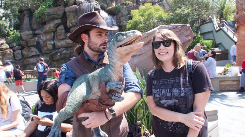 Jurassic World baby raptor dinosaur encounter