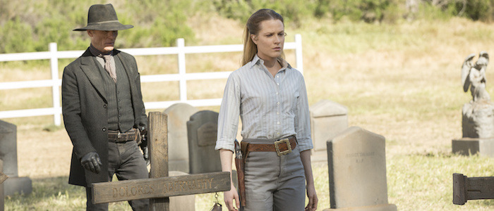 westworld dolores and man in black