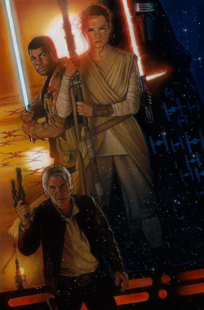 Drew Struzan's poster for Star Wars: The Force Awakens