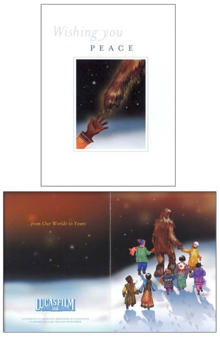 2001 LucasFilm Star Wars Christmas Card