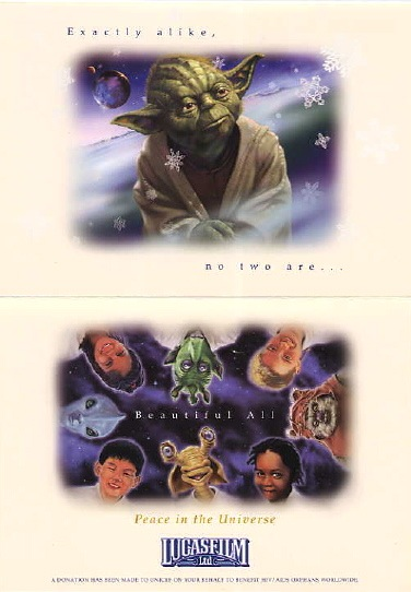 2002 LucasFilm Star Wars Christmas Card