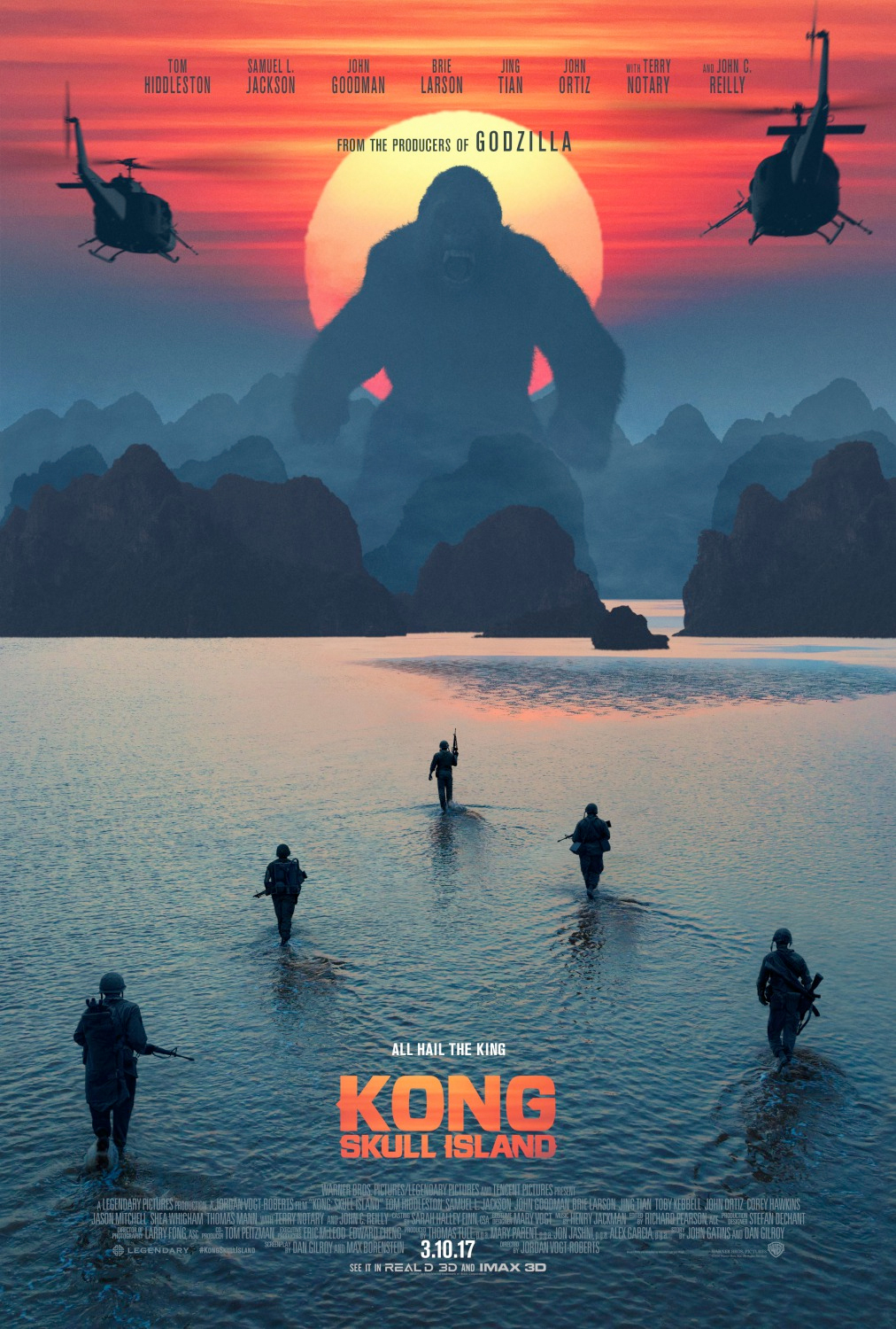 posters movie island kong skull poster