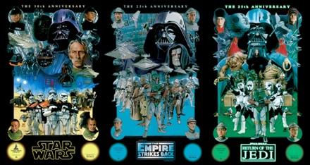 25th Anniversary Star Wars Villain Posters