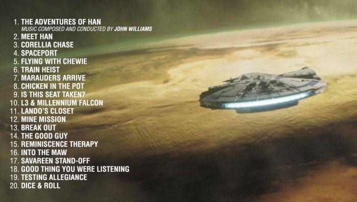 Solo soundtrack tracklist