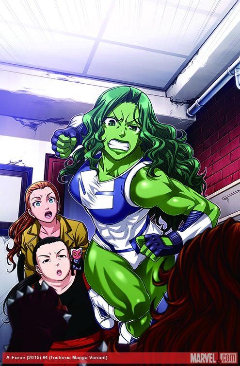 A-Force Manga Variant