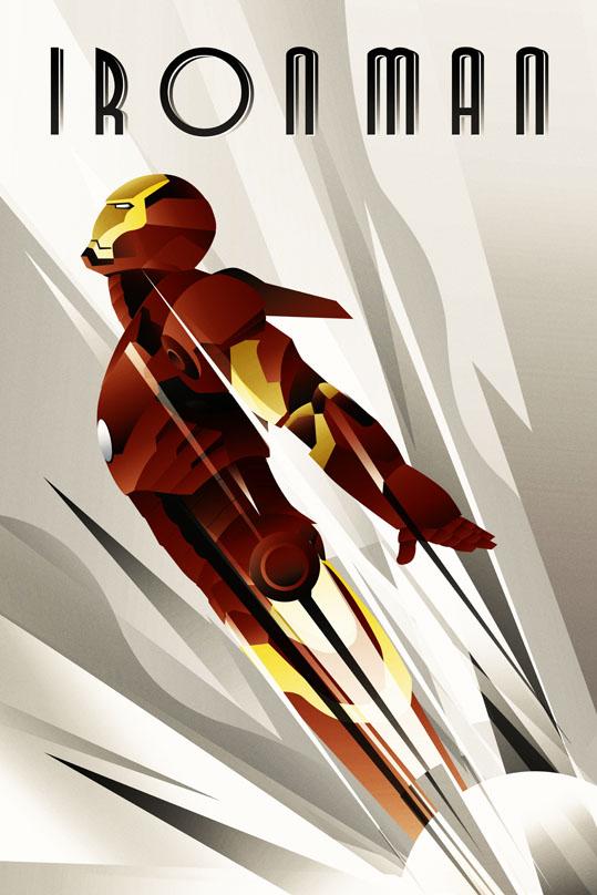 Art Deco Iron Man Rodolfo Reyes
