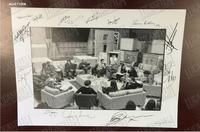 Autographed Force Awakens Photo