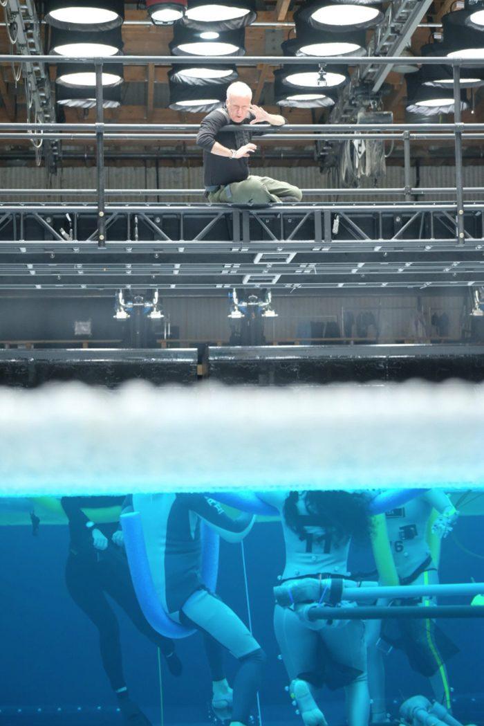 Avatar 2 set photos - James Cameron overlooking pool