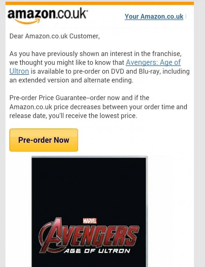 Avengers 2 Blu-ray Amazon