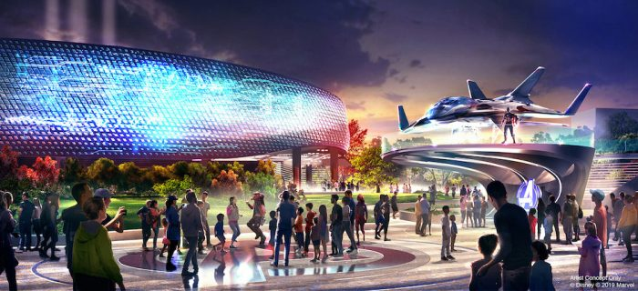 Avengers Campus concept art Disneyland Paris