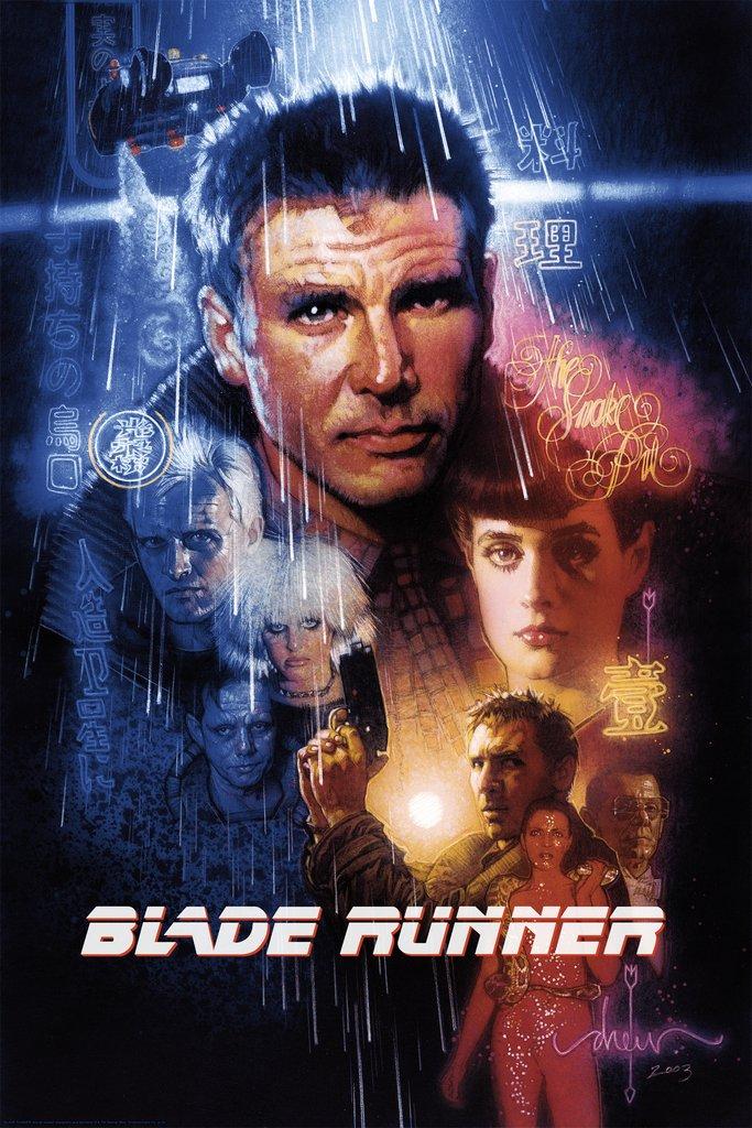 Blade Runner Drew Struzan titled