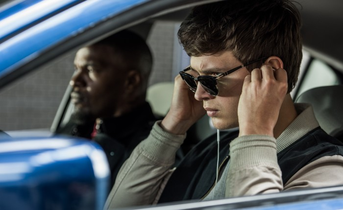 Baby Driver - Bats (Jamie Foxx) and Baby (Ansel Elgort)
