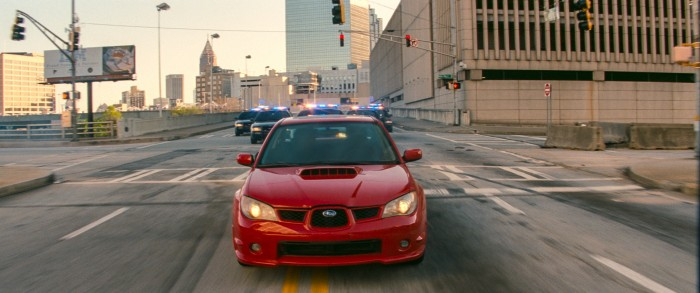 Baby Driver - red car