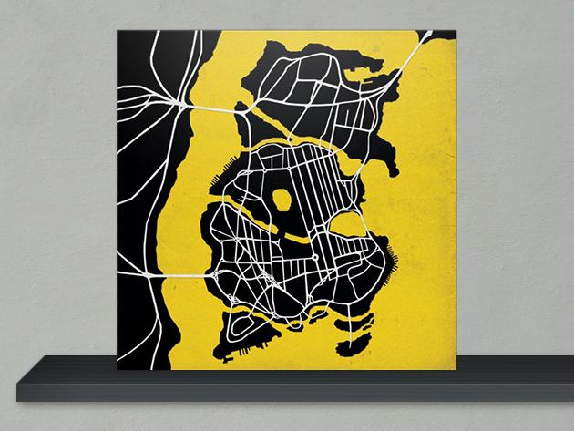 Batman-Gotham-City-Map-Print