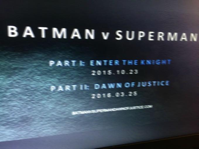 Batman v Superman split rumor