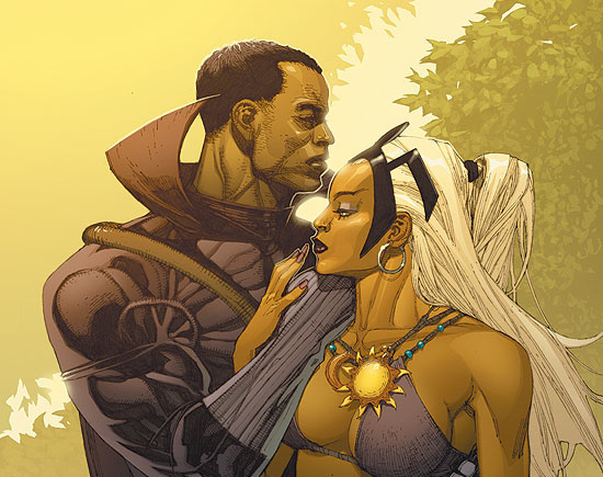 Black Panther and Storm