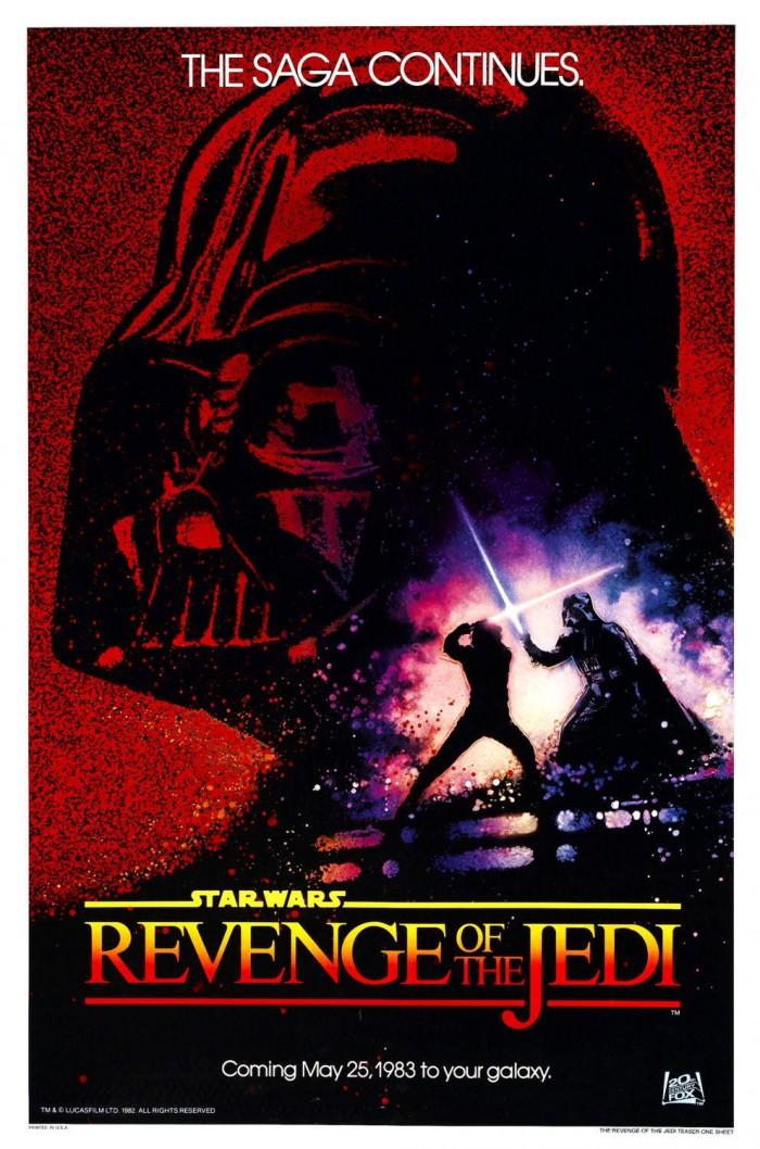 revenge of the jedi poster