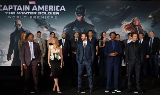 Captain America 2 premiere