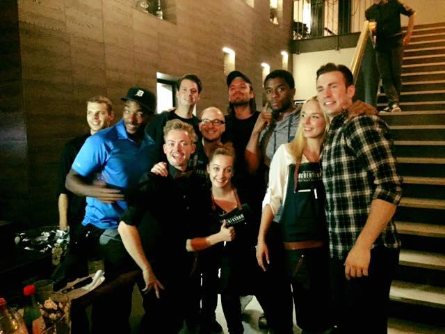 Captain America Civil War wrap party