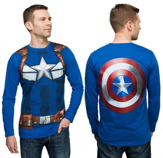 Captain America back shirt