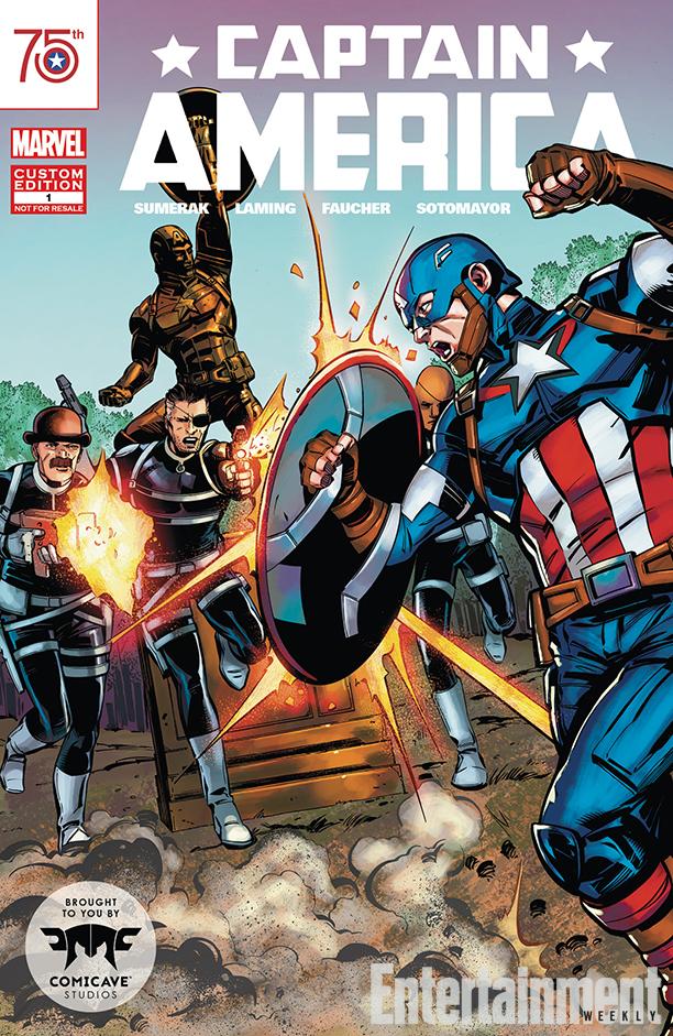 Captain America statue comic