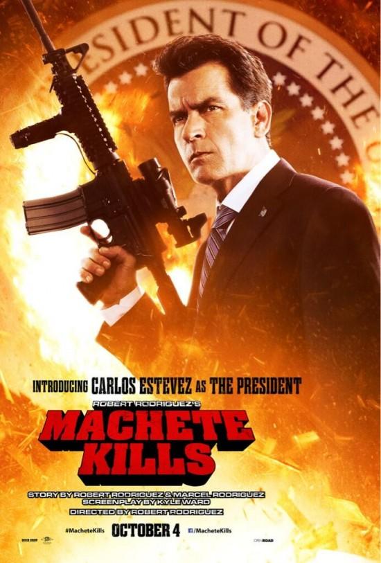 Charlie Sheen in Machete Kills