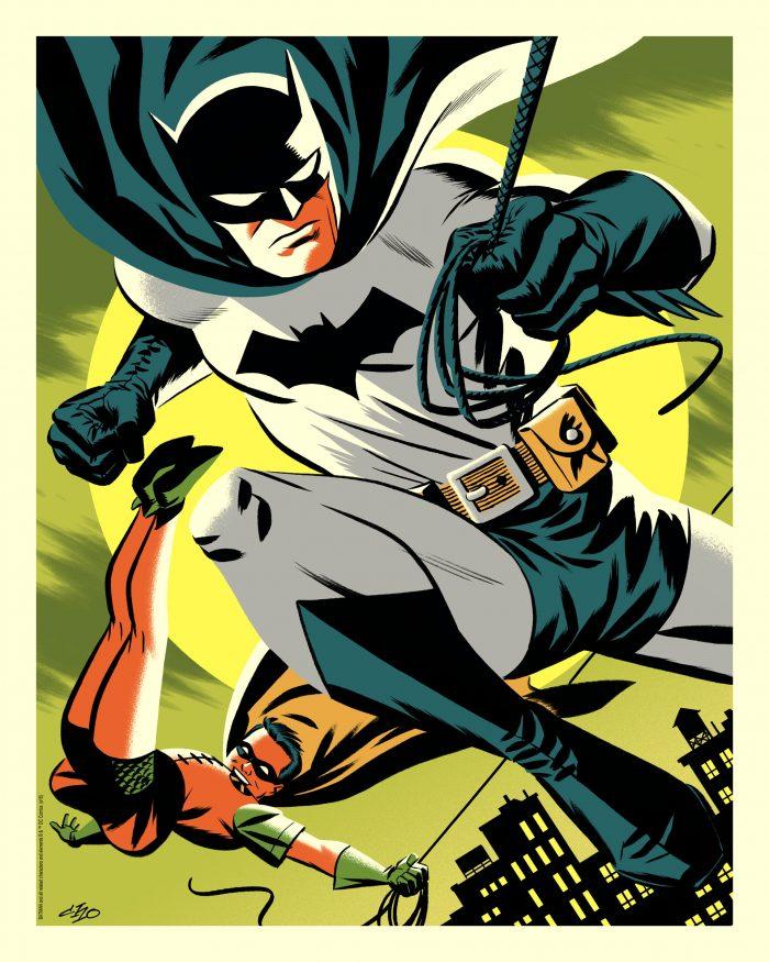 "Michael Cho ""Batman & Robin"" Bottleneck Variant Lithograph"