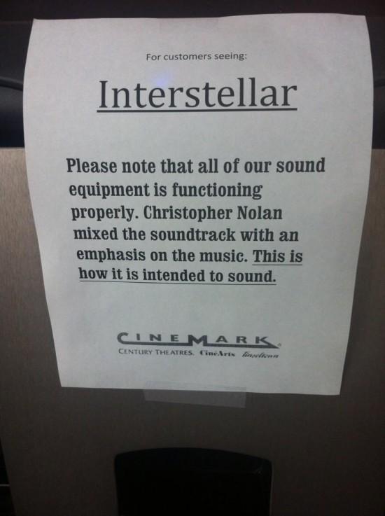 Cinemark Interstellar