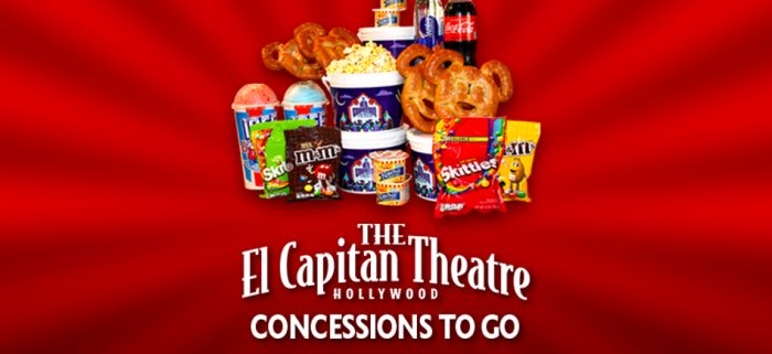 The El Capitan Theatre Offering Concessions To-Go This Weekend