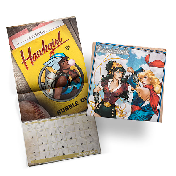 DC Bombshells calendar
