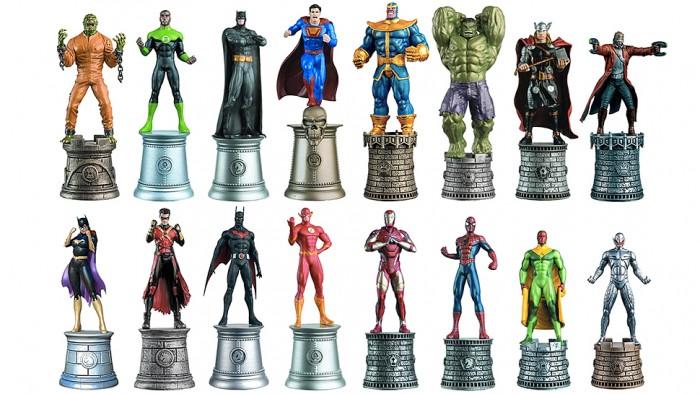 DC vs Marvel Chess Pieces