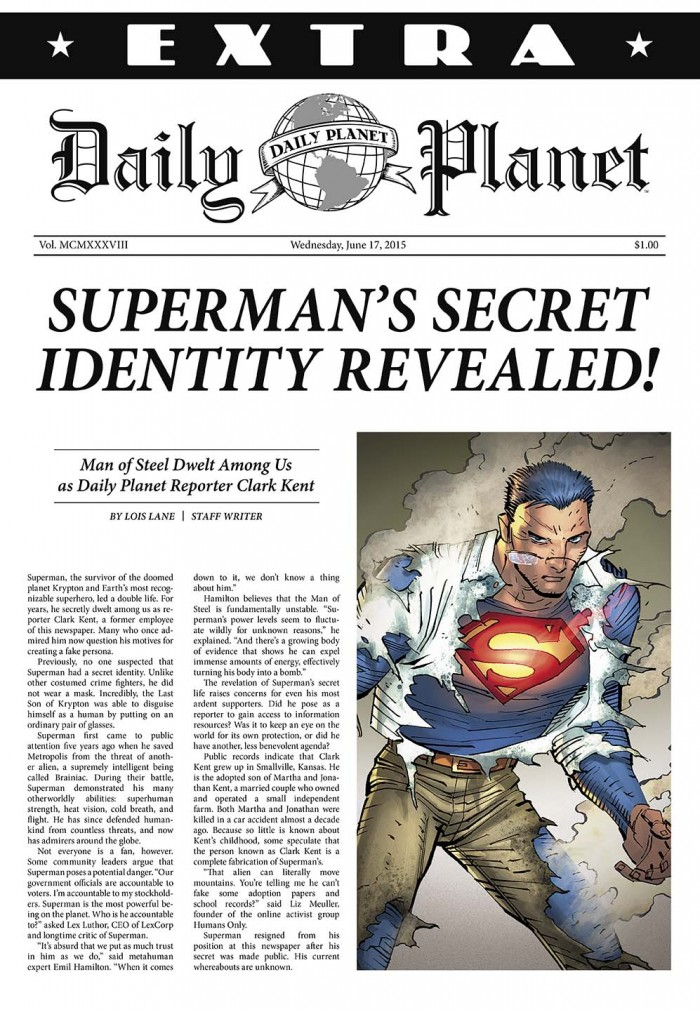 Daily Planet Superman Article