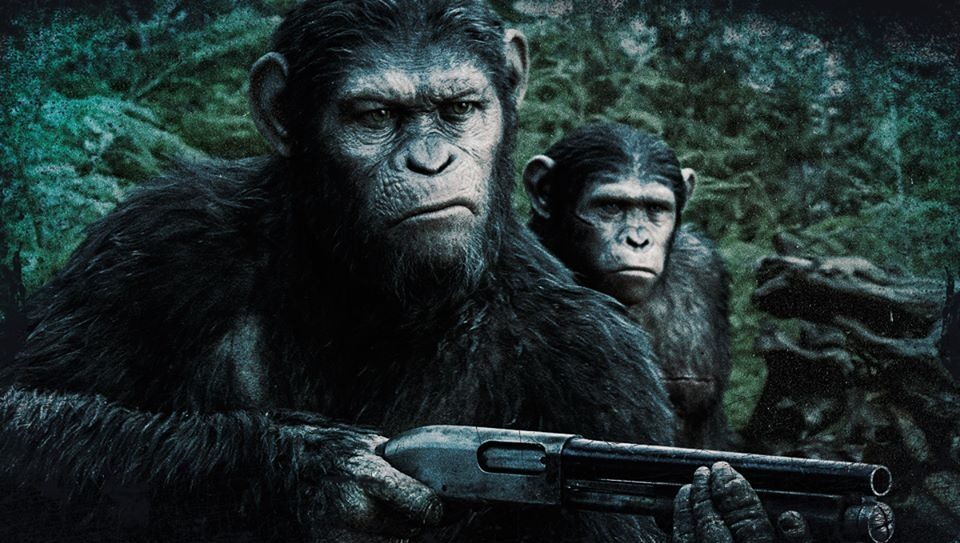 Dawn of the Planet of the Apes Poster: Caesar Is Battle ...