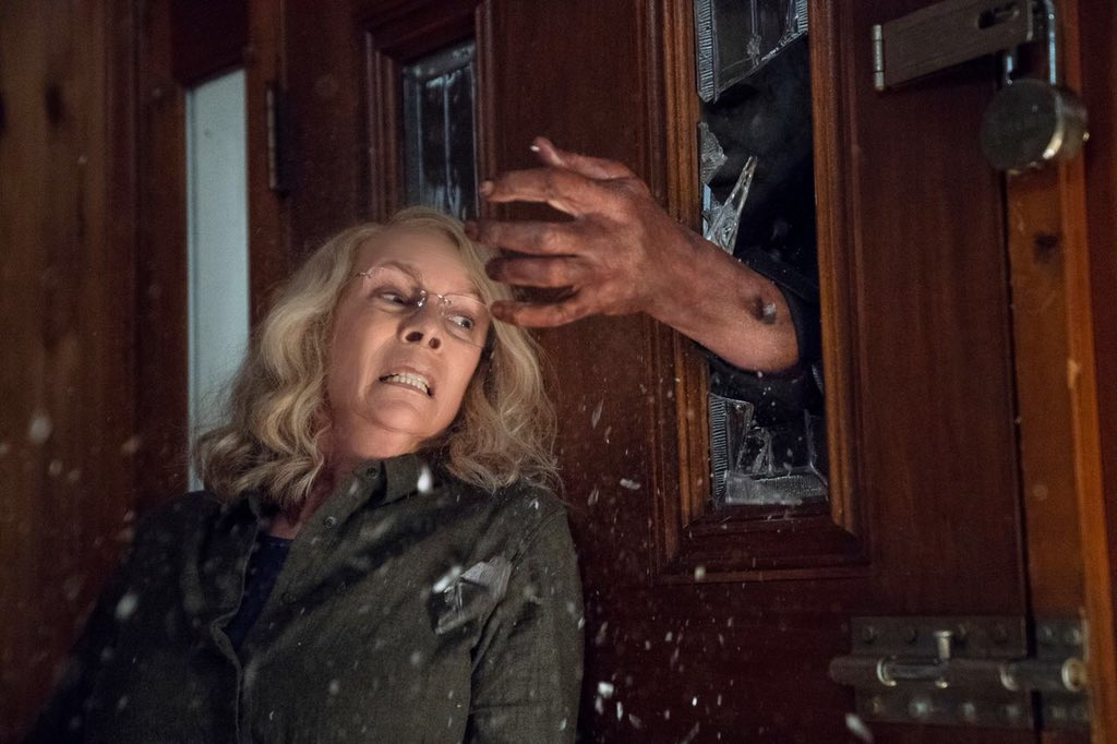 First Halloween Photos Reveal Michael Myers Terrorizing Laurie Strode
