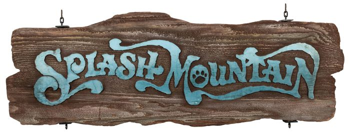 Disney Auction 4 - Splash Mountain sign