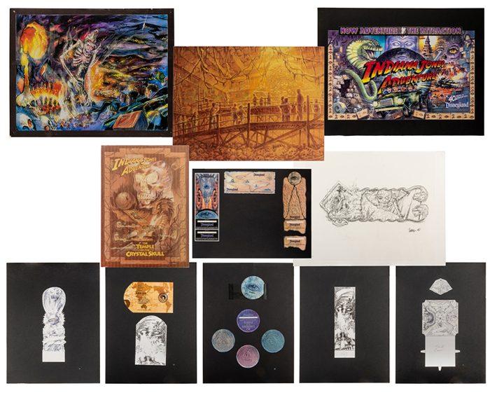 Disney Auction 5 - Indiana Jones concept art