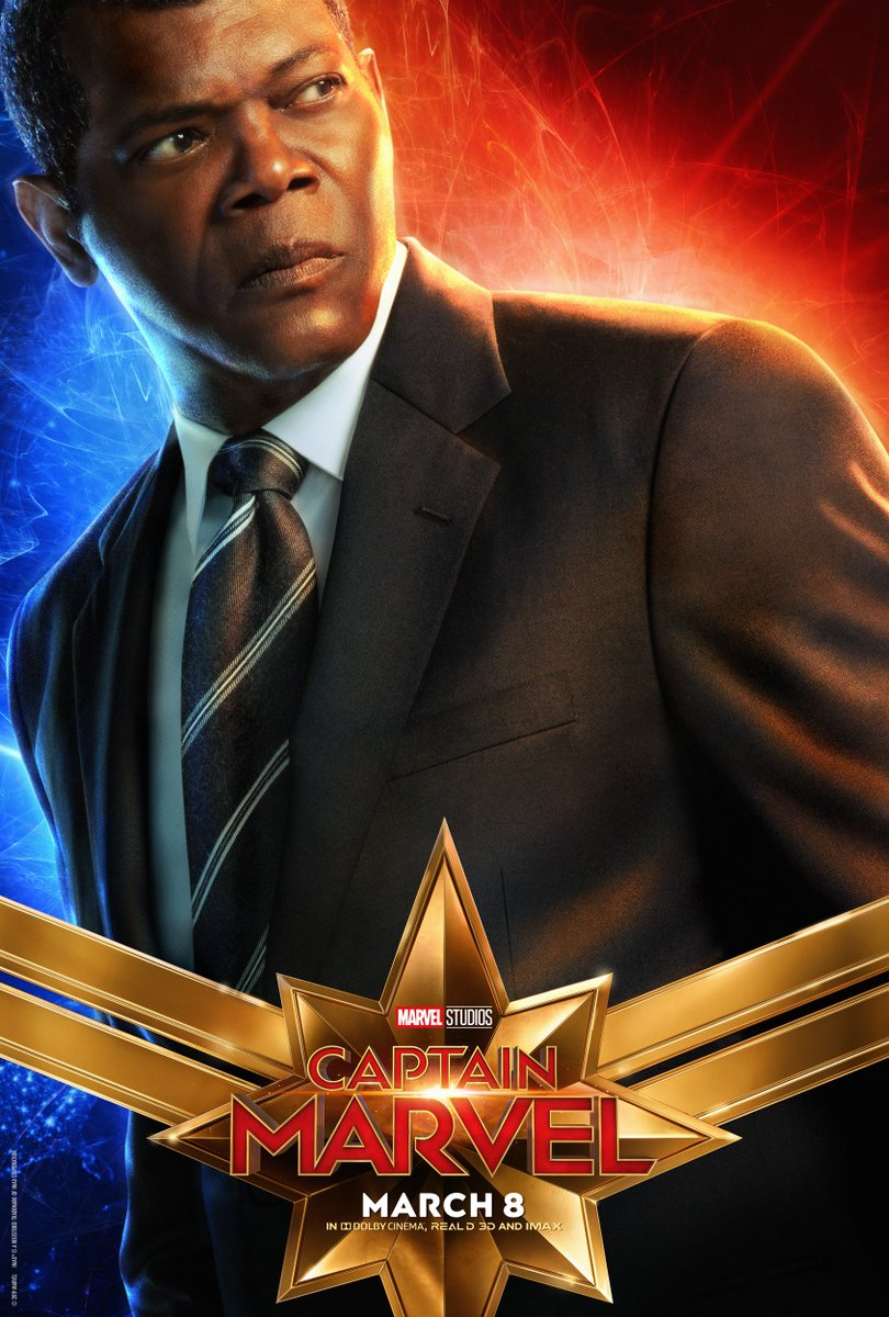 captain marvel character posters feature captain marvel's cat