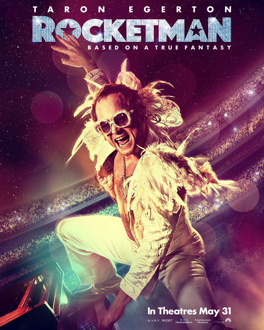 Taron Egerton is Elton John on New 'Rocketman' Poster