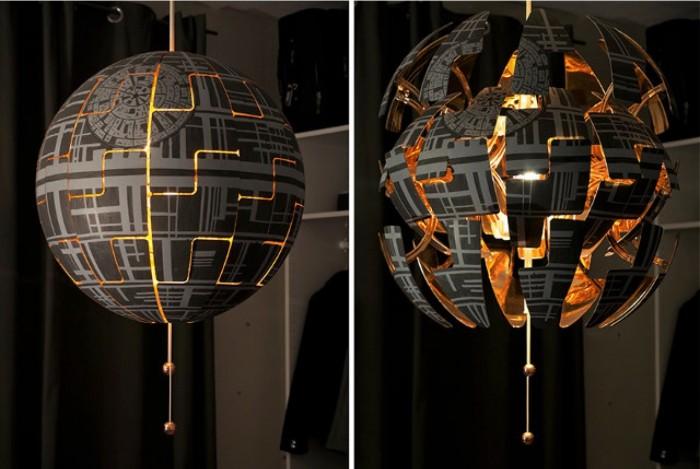 Exploding Death Star IKEA Lamp