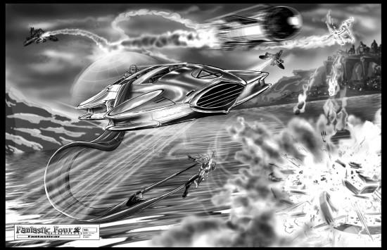 Fantastic Four sequel storyboard