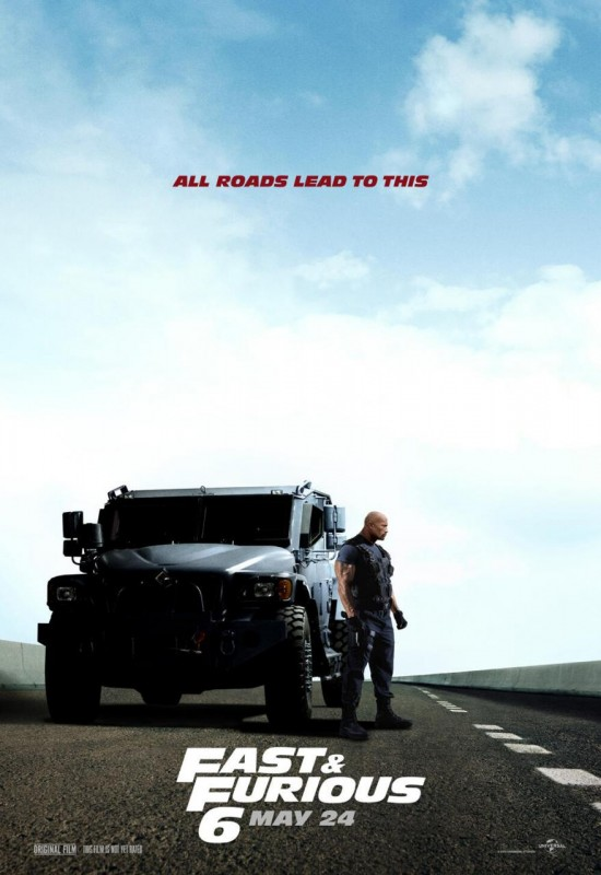 Fast and Furious 6 Johnson Poster