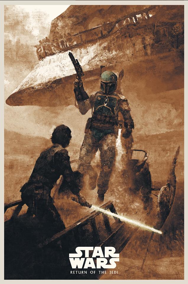 """Karl Fitzgerald """"Skywalker Returns - Return of the Jedi"""" Screen print"""